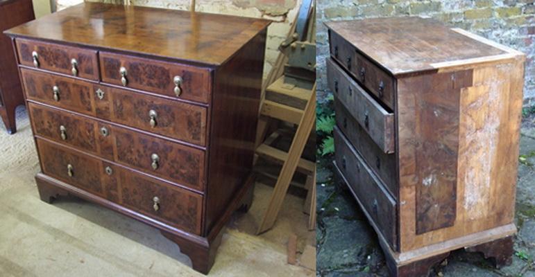 Реставрация старой мебели своими руками до и